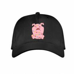 Дитяча кепка Свиня обмотана гірляндою