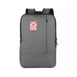 Рюкзак для ноутбука Свиня обмотана гірляндою