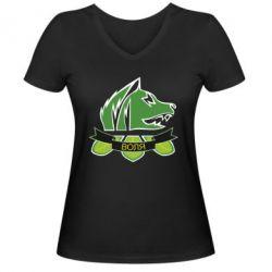 Женская футболка с V-образным вырезом Свобода
