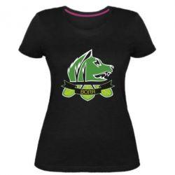 Женская стрейчевая футболка Свобода