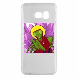 Чохол для Samsung S6 EDGE Святий богомол