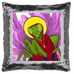 Подушка-хамелеон Святий богомол