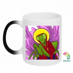 Кружка-хамелеон Святий богомол