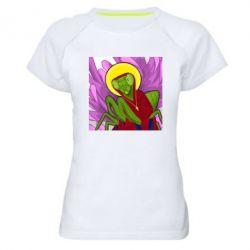 Жіноча спортивна футболка Святий богомол