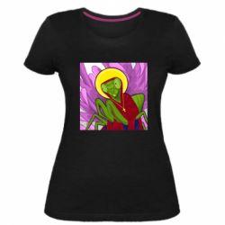 Жіноча стрейчева футболка Святий богомол