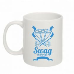 Кружка 320ml Swag is your life - FatLine