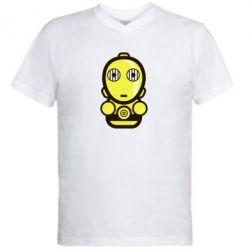 Мужская футболка  с V-образным вырезом Sweet C-3PO - FatLine