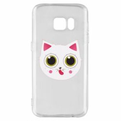 Чехол для Samsung S7 Sweet Cat - FatLine