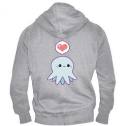 Мужская толстовка на молнии Sweet Octopus