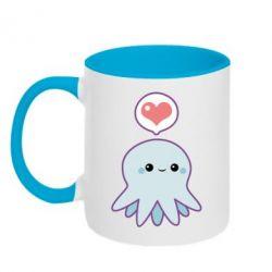Кружка двухцветная 320ml Sweet Octopus