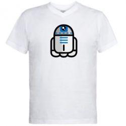 Мужская футболка  с V-образным вырезом Sweet R2D2 - FatLine