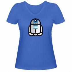 Женская футболка с V-образным вырезом Sweet R2D2 - FatLine