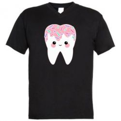 Чоловіча футболка з V-подібним вирізом Sweet tooth