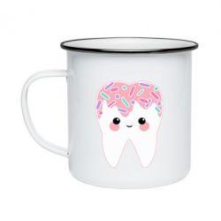 Кружка емальована Sweet tooth