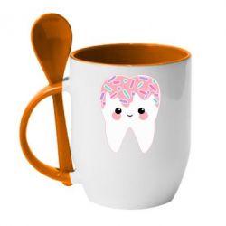 Кружка з керамічною ложкою Sweet tooth