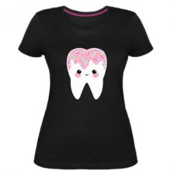 Жіноча стрейчева футболка Sweet tooth