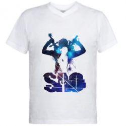 Чоловіча футболка з V-подібним вирізом Sword Art Online space