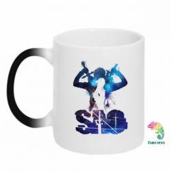 Кружка-хамелеон Sword Art Online space