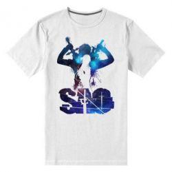 Чоловіча стрейчева футболка Sword Art Online space