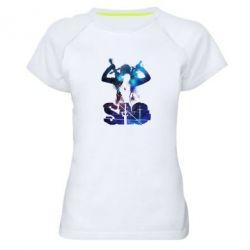 Жіноча спортивна футболка Sword Art Online space