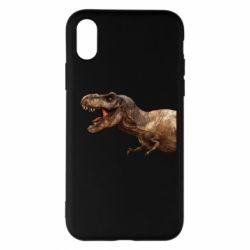 Чохол для iPhone X/Xs T-rex in profile