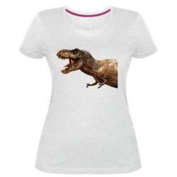 Жіноча стрейчева футболка T-rex in profile