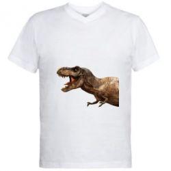 Чоловіча футболка з V-подібним вирізом T-rex in profile