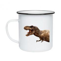 Кружка емальована T-rex in profile