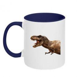 Кружка двоколірна 320ml T-rex in profile