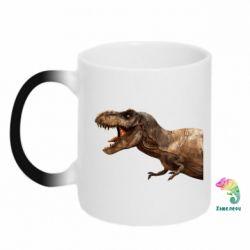 Кружка-хамелеон T-rex in profile