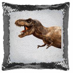 Подушка-хамелеон T-rex in profile