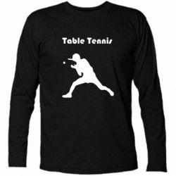 Футболка с длинным рукавом Table Tennis Logo - FatLine