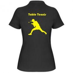 Женская футболка поло Table Tennis Logo