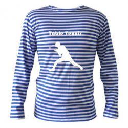 Тельняшка с длинным рукавом Table Tennis Logo - FatLine