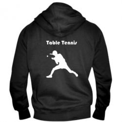 Мужская толстовка на молнии Table Tennis Logo - FatLine