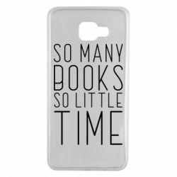 Чохол для Samsung A7 2016 Так багато книг так мало часу