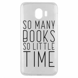 Чохол для Samsung J4 Так багато книг так мало часу