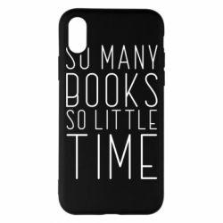 Чохол для iPhone X/Xs Так багато книг так мало часу