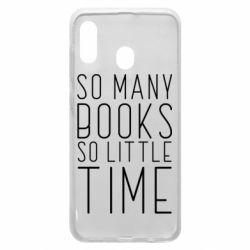 Чохол для Samsung A20 Так багато книг так мало часу