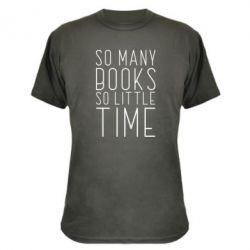 Камуфляжна футболка Так багато книг так мало часу