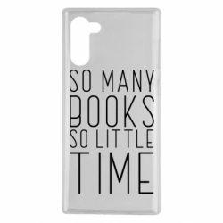 Чохол для Samsung Note 10 Так багато книг так мало часу