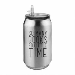 Термобанка 350ml Так багато книг так мало часу