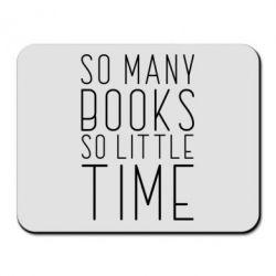 Килимок для миші Так багато книг так мало часу