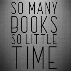Наклейка Так багато книг так мало часу