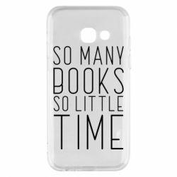 Чохол для Samsung A3 2017 Так багато книг так мало часу