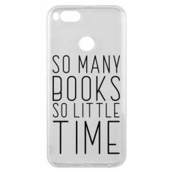 Чохол для Xiaomi Mi A1 Так багато книг так мало часу