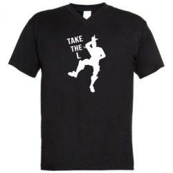 Мужская футболка  с V-образным вырезом Take L