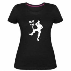 Женская стрейчевая футболка Take L