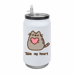 Термобанка 350ml Take my heart
