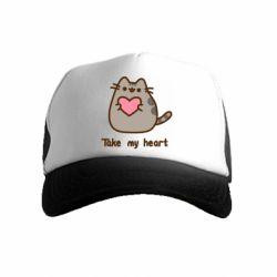 Дитяча кепка-тракер Take my heart